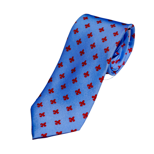 Peter Blair Tie with Fleur-de-lis Print