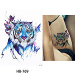 Temporary Watercolor Tattoo - 1 Sheet (Multiple Designs)