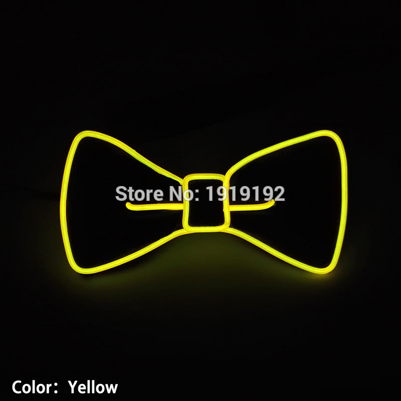 Bow Tie with Glowing or Flashing Colors (10 Colors)