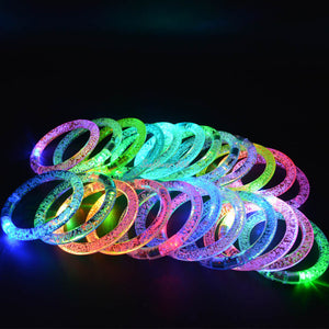 LED Light-Up/Flashing Bracelet (12 Count, Multiple Colors)