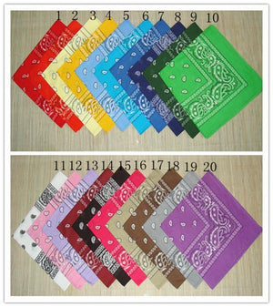 Cotton Paisley Bandanas Double Sided (20 Count)