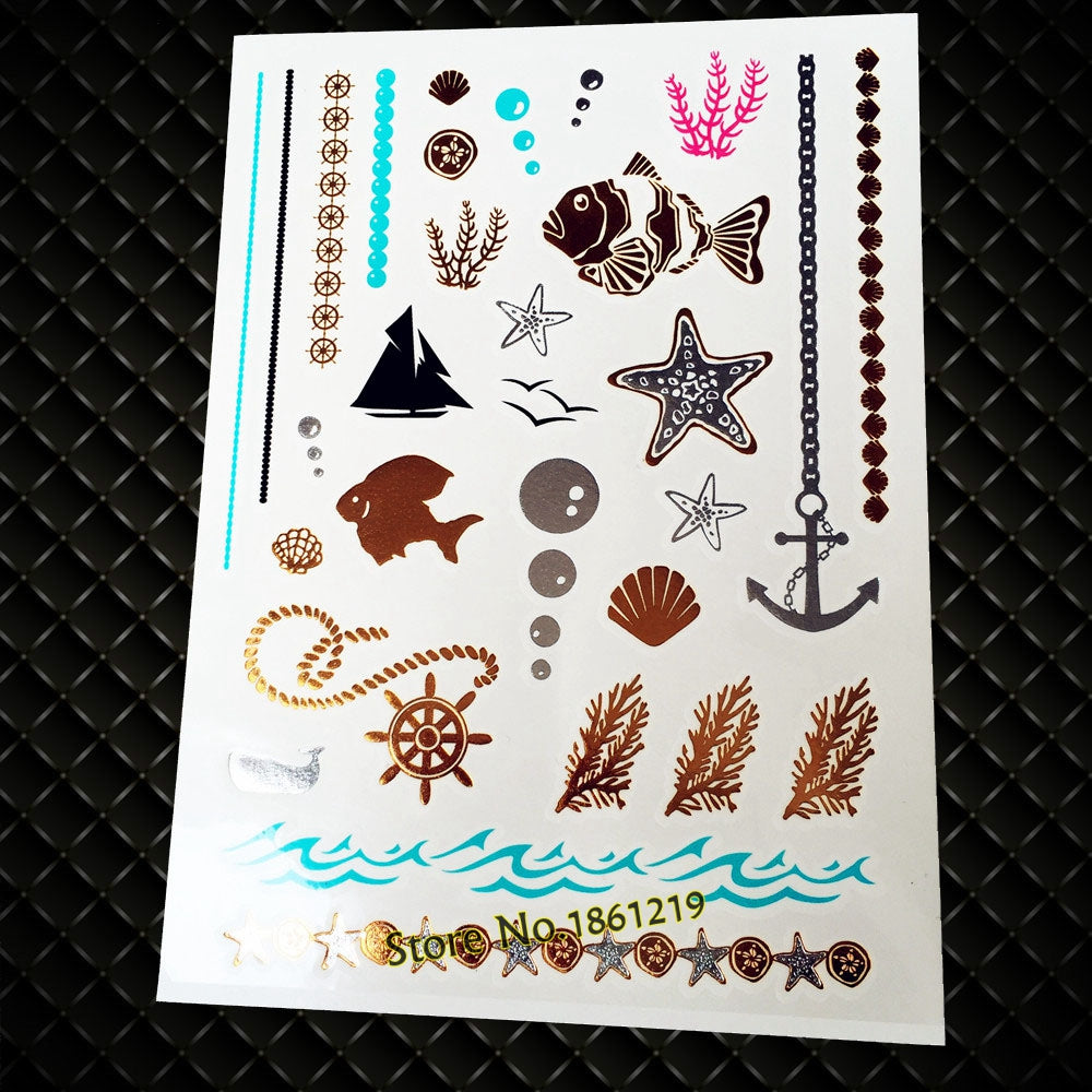 Metallic Temporary Tattoo (Various Selection)