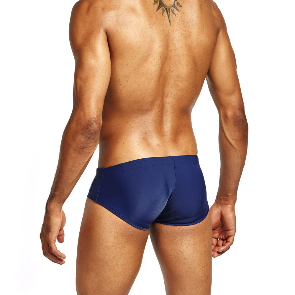 Waist Racing Stripe Swim Brief (Multiple Colors)