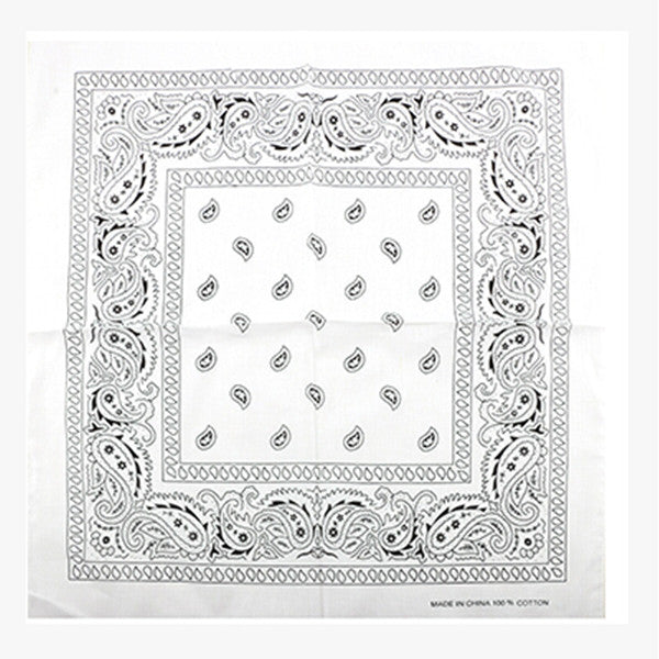 100% Cotton Paisley Bandanas Double Sided (3 Count)