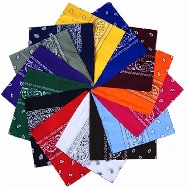 Cotton Paisley Bandanas Double Sided (12 Count)