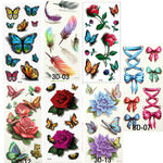 3D Body Tattoos (7 Sheets)