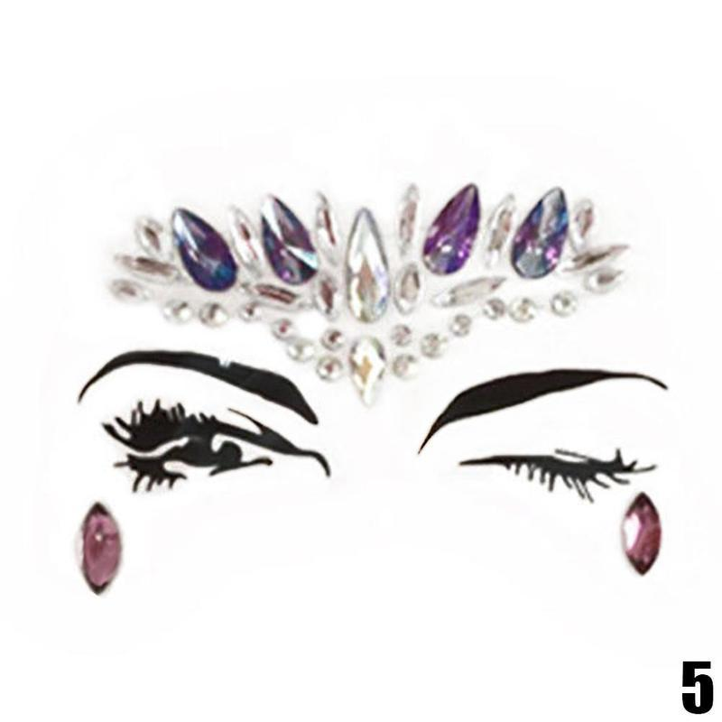 Adhesive Rhinestone Tattoo Jewels (Multiple Designs)