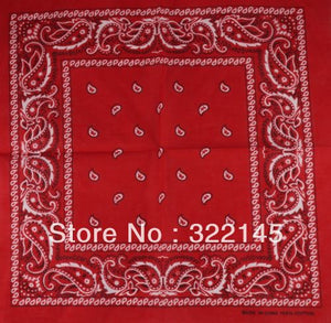 100% Cotton Paisley Bandanas Double Sided (12 Count)