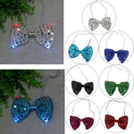 LED Flashing Light-Up Sequin Bowtie