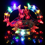 LED Light-Up Spiked Bracelet  (12 pieces)