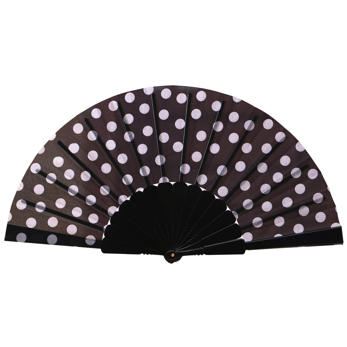 Polka-Dot Folding Fan (Multiple Colors)