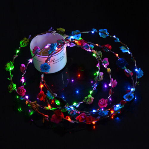 LED Light-Up Wild Flower Headband