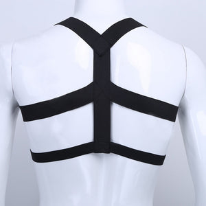 Nylon Body Chest Harness (Black/White)