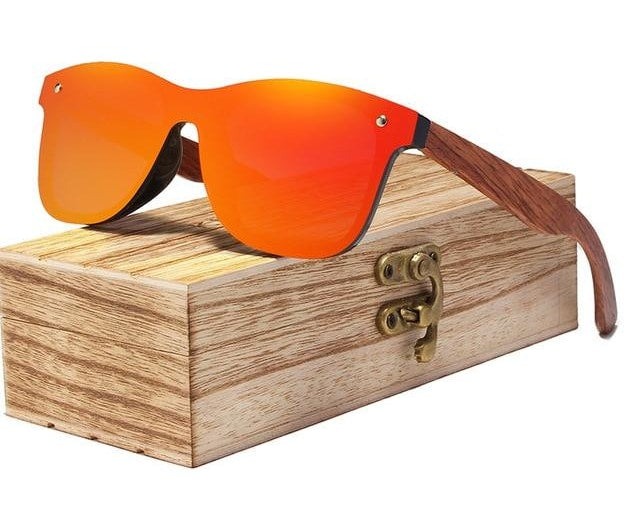 Rimless Polarized Wood Sunglasses (Multiple Colors)