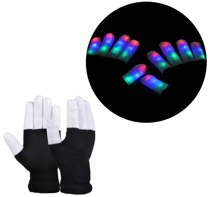 LED Rave Gloves (7 Modes)