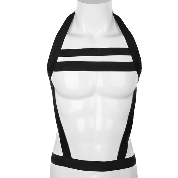 Nylon Elastic Chest Harness (Black/White)