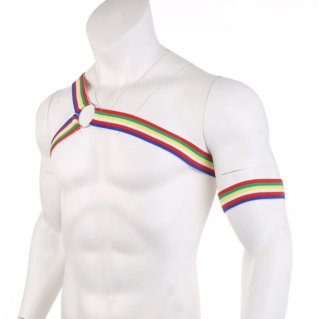 Multicolor Asymmetrical Harness