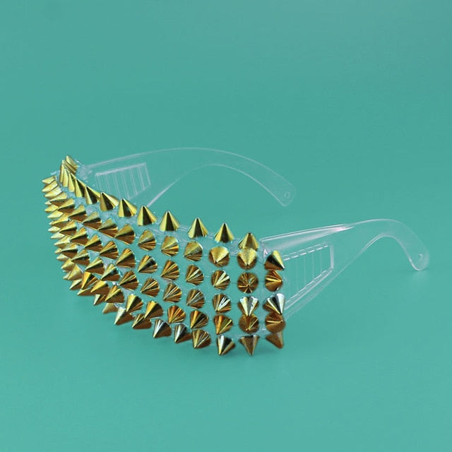 Steampunk Spiked Glasses (Silver & Gold)