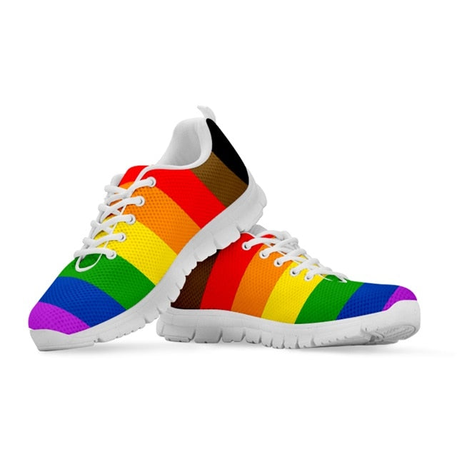 Rainbow Striped Casual Sneakers