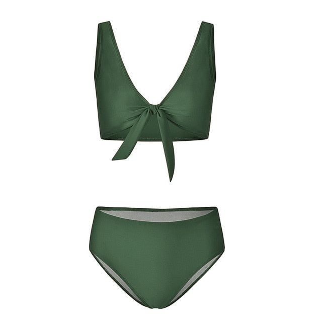 High Waisted Two-Piece Swimsuit