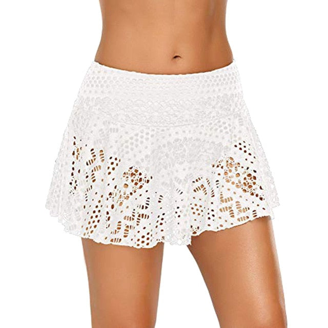 Lace Skirted Bikini Bottom (Multiple Colors)