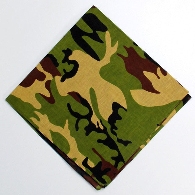 Cotton Camouflage Bandanas (Multiple Designs)