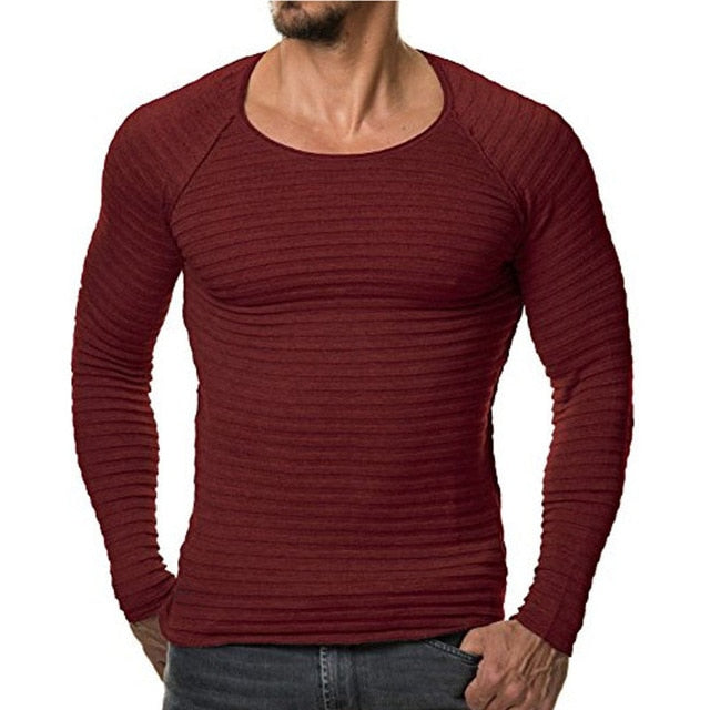 Long Sleeved Knit Compression Shirt (Multiple Colors)