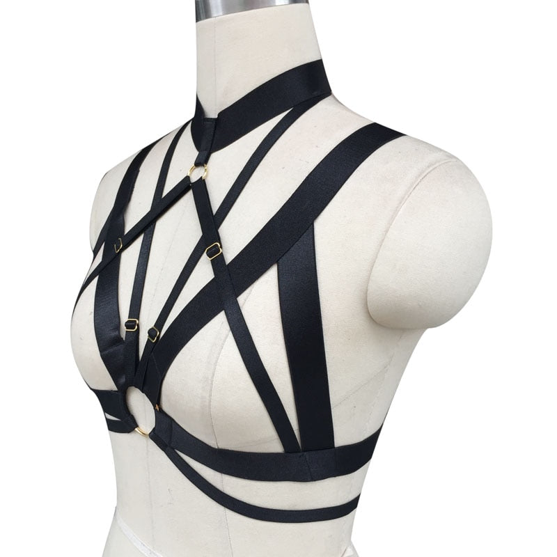 Spandex Adjustable Cage Harness