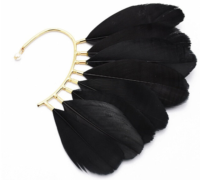 Bohemian Feather Ear Cuff (Multiple Colors)