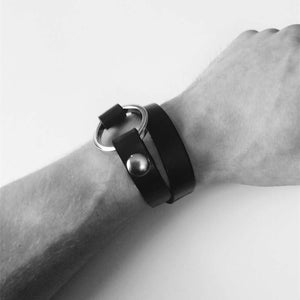 O-Ring Leather Style Bracelet