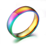 Stainless Steel LGBT Rainbow Pride Ring