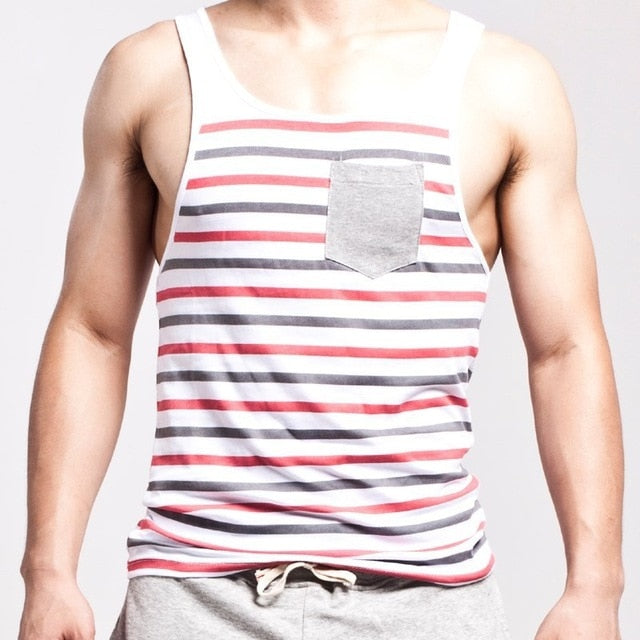 Summer Style Tank Top With Pocket (Multiple Colors)