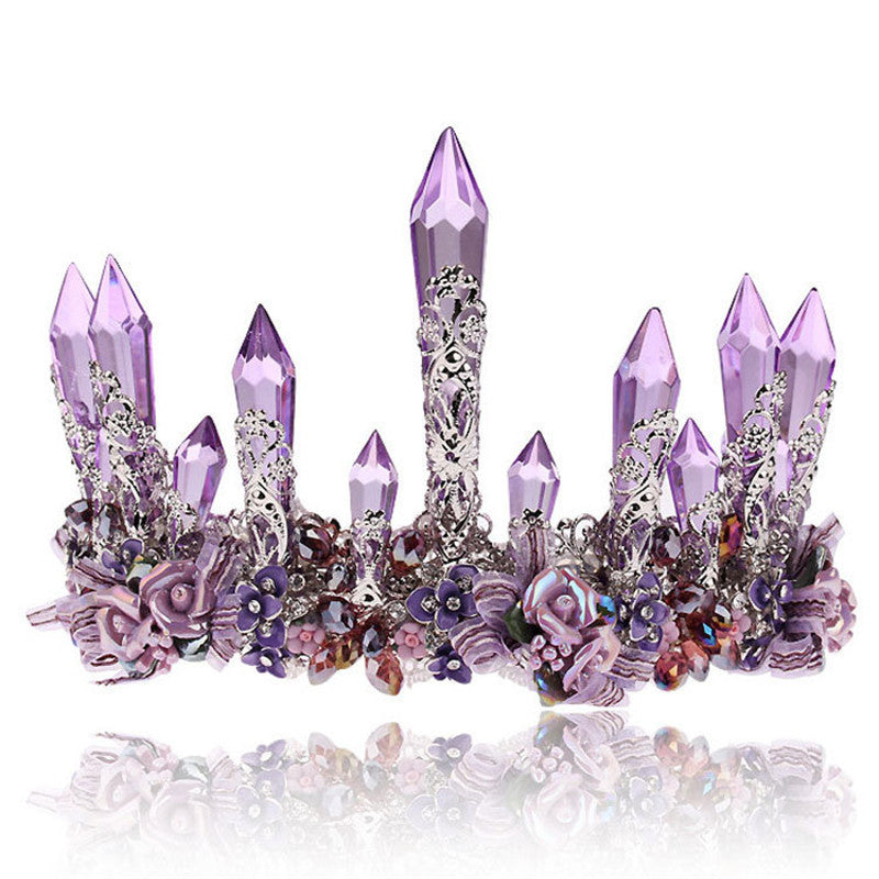 Vintage Purple Crystal Crown