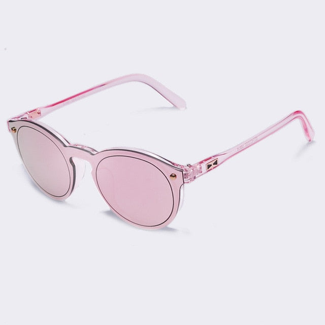 Oval Retro Reflective Mirror Sunglasses (Multiple Colors)