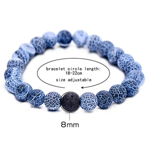 Black and Blue Lava Stone Bracelets (2pcs)