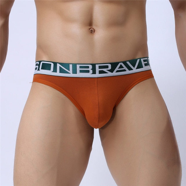 Men's Peek-a-Boo Briefs (Multiple Colors)