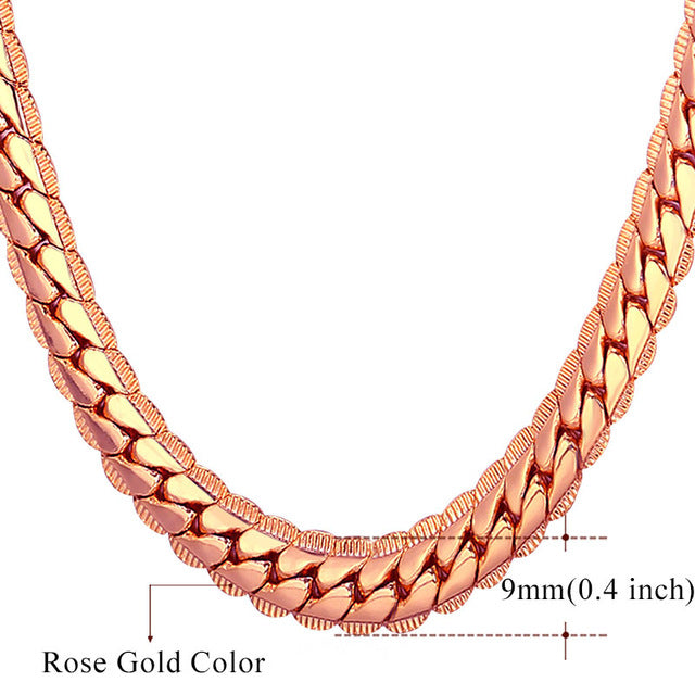 Hip Hop/Rock Chain Necklace (Multiple Colors)