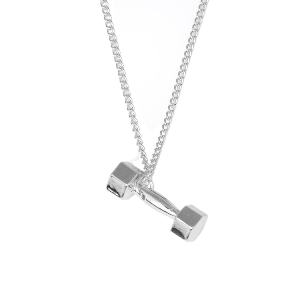 Dumbbell Necklace (Black/Silver/Gold)