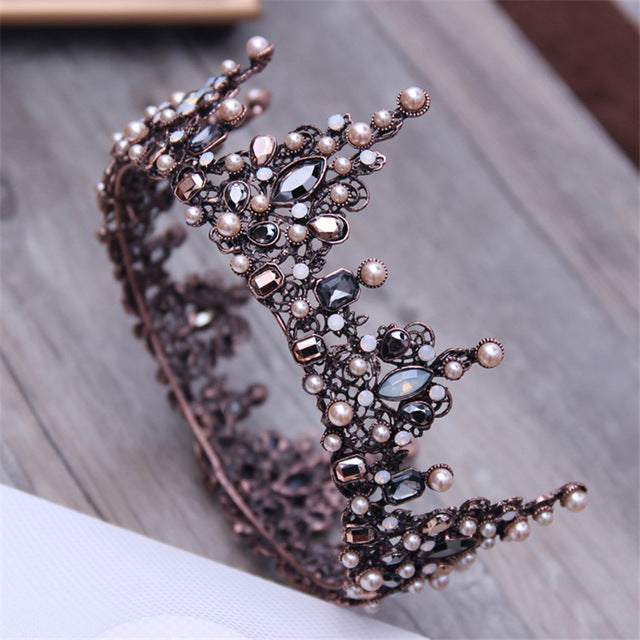 Brass Style Baroque Crown (Multiple Designs)