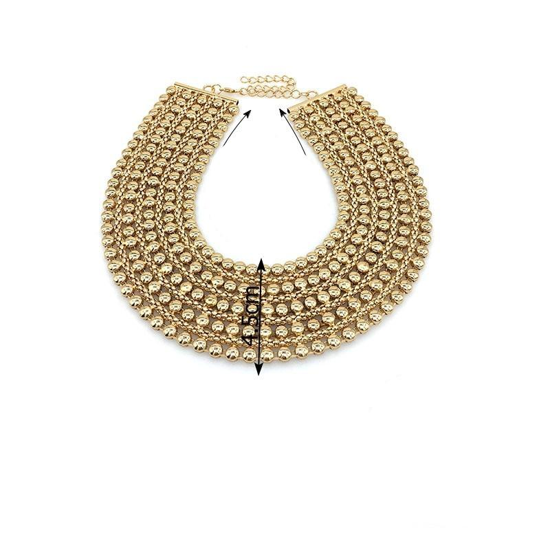 Egyptian Style Bib Choker Necklace (Gold/Silver)