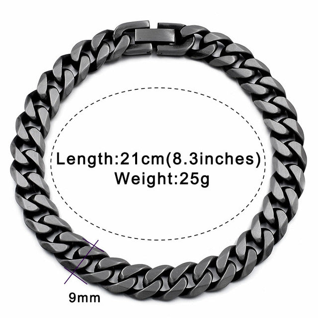 Stainless Steel Chain Link Bracelet (Multiple Tones)