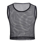 Men's Fishnet Crop Top (Black/White)