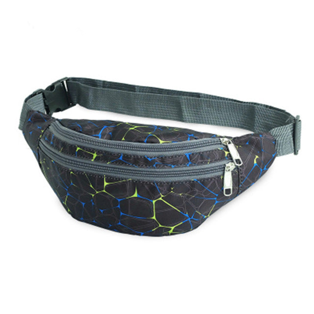 Colorful Waterproof Fanny Pack (Crackle Paint & Camouflage)