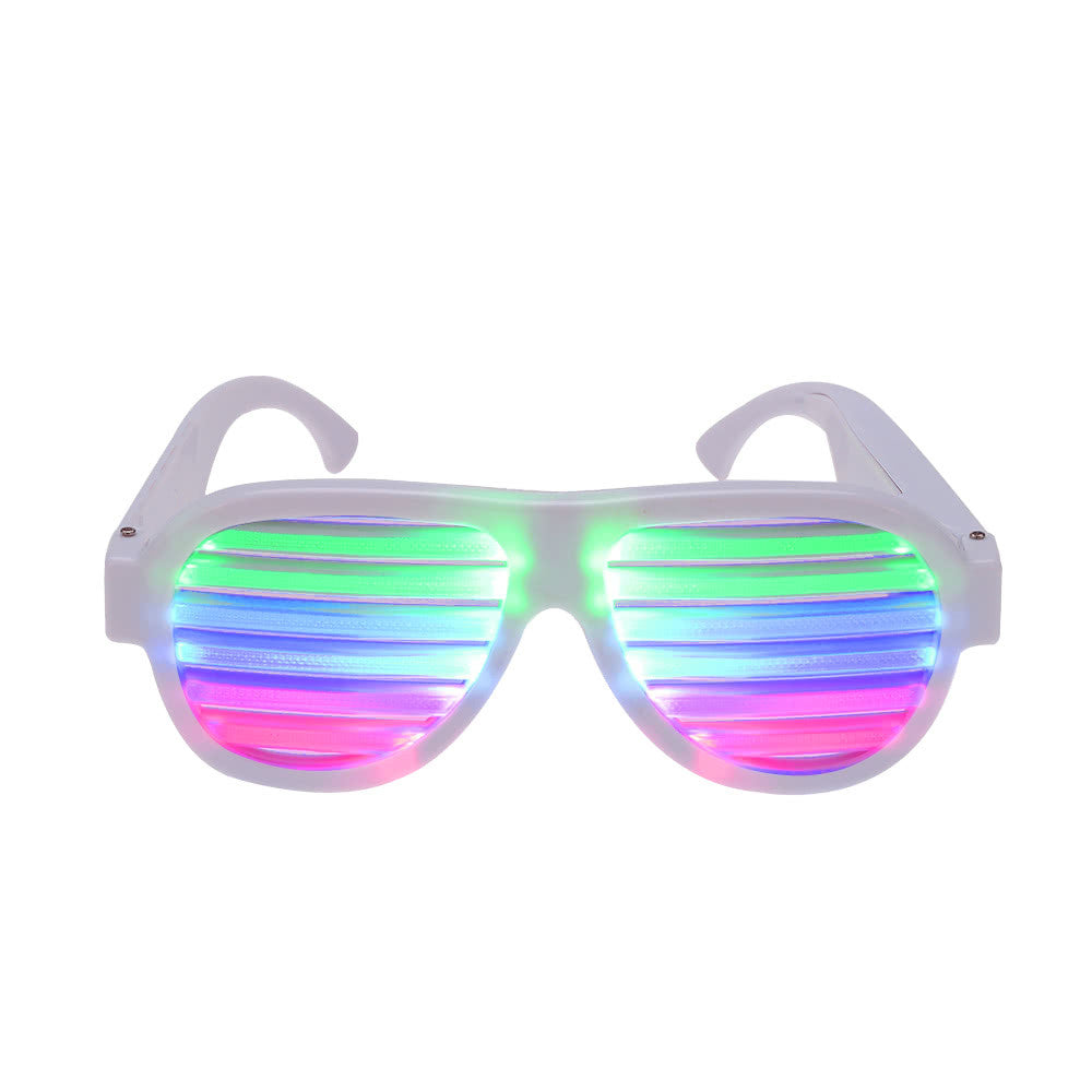 Sound-Controlled LED Party Glasses (White)