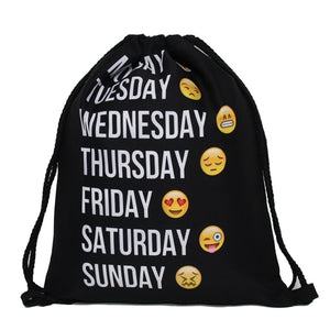 #Mood 3D Print Pop Culture Drawstring Bag