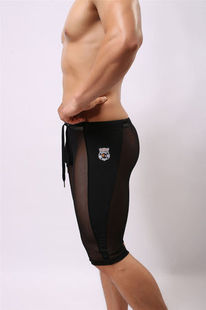 See-Through Mesh Circuit Tights (Black/White)