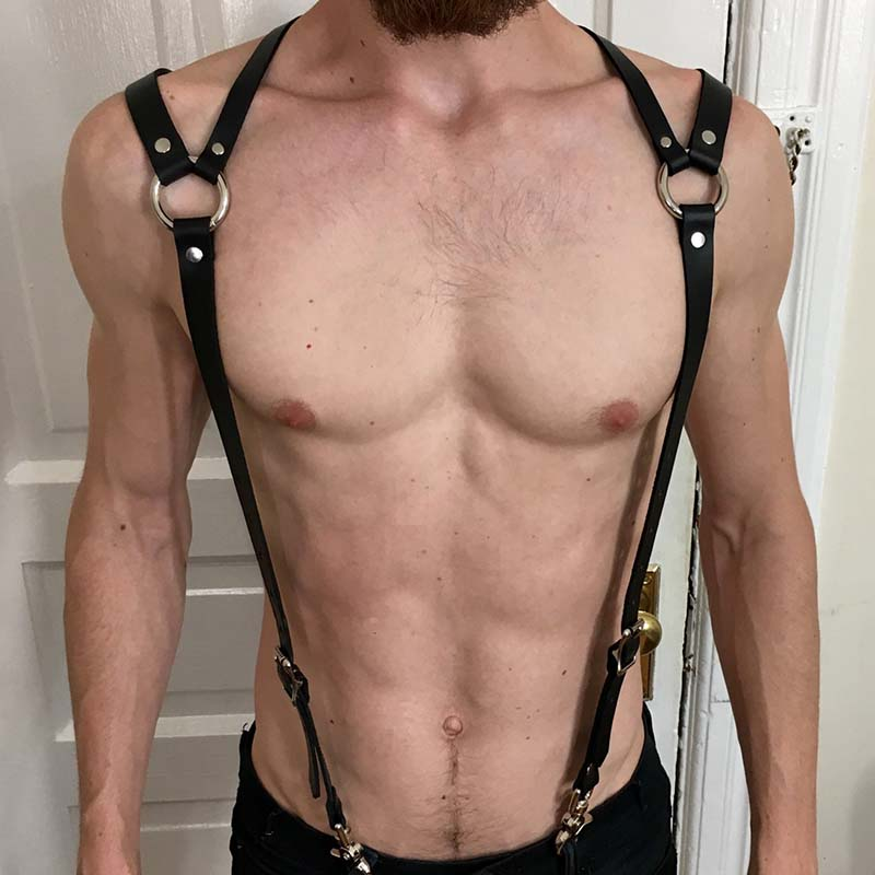 Faux Leather Bondage Harness