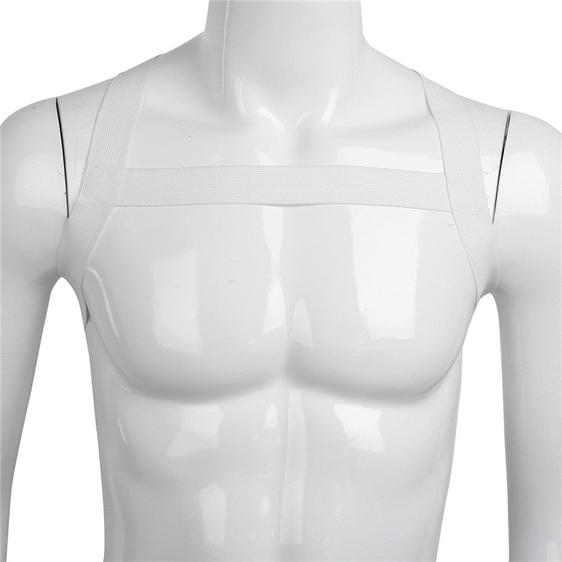 Elastic Chest Harness (Black/White)