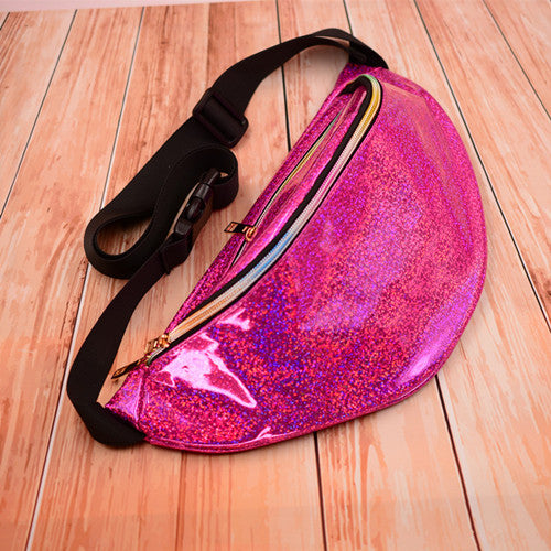 Holographic Waterproof Fanny Pack (Multiple Colors)