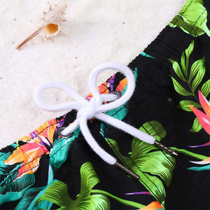 Hawaiian Beach Shorts (Red & Green)